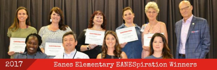 Eanes ES EANESpiration Winners, 2017