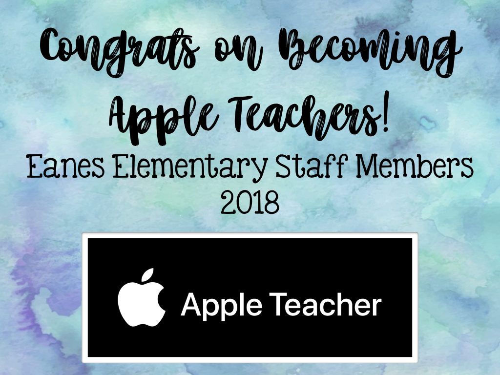 Congrats EE Apple Teachers 2018!